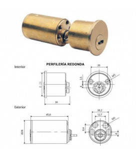 CILINDRO SEGURIDAD T10P TS 40 TESA